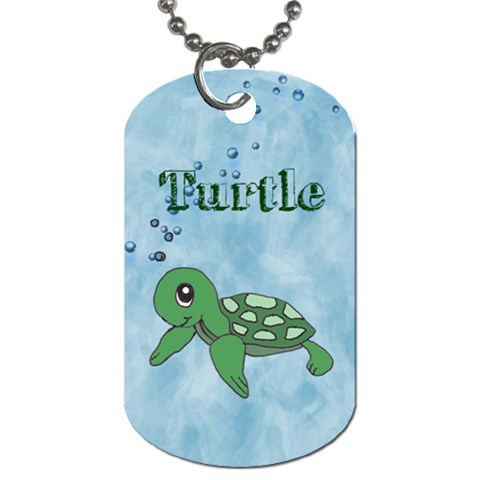 Turtle By Amarilloyankee   Dog Tag (one Side)   Sh38gf00ytkn   Www Artscow Com Front