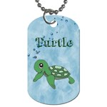 turtle - Dog Tag (One Side)