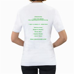 Lungapalooza:    Team  One Breath At A Time #2 By Gail Honeycutt Csizmar   Women s T Shirt (white) (two Sided)   Dql2wvjoua5b   Www Artscow Com Back