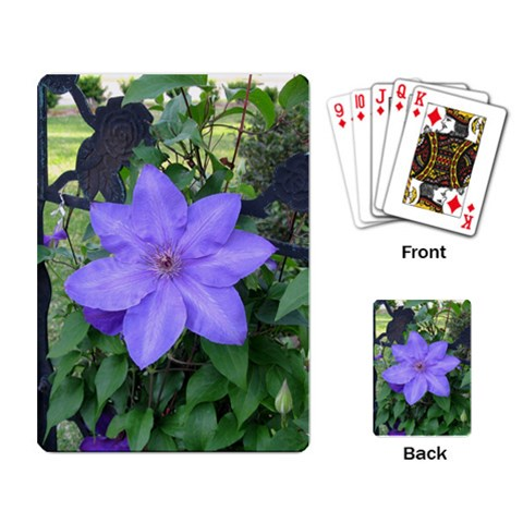 Mom s Garden By Andrea Reynolds   Playing Cards Single Design   1pwrxfykbcyg   Www Artscow Com Back