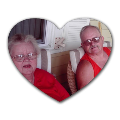 Granny And Papap By Crystal Ebbert   Heart Mousepad   Eyzcmkvji098   Www Artscow Com Front