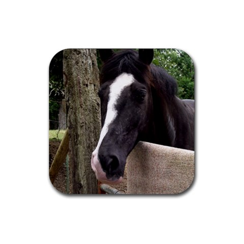 Horse Coaster By Jessica   Rubber Coaster (square)   8ayrx9u6h7xa   Www Artscow Com Front
