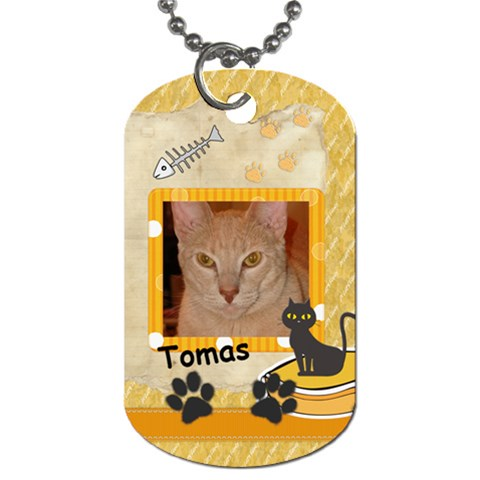 Tomas Dog Tag By Anne Frey   Dog Tag (one Side)   6x5ybqc0k3hd   Www Artscow Com Front