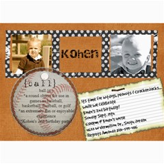 Kohen By Amanda Sanovich   5  X 7  Photo Cards   F3n4o31w4nn8   Www Artscow Com 7 x5 Photo Card - 1