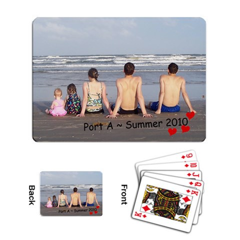 Playing Cards By Keri Orr   Playing Cards Single Design   1zkav2cr2cy8   Www Artscow Com Back