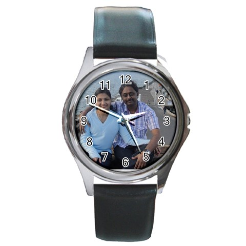 Sagar By Palaniappan   Round Metal Watch   95vvb3e8d7wh   Www Artscow Com Front