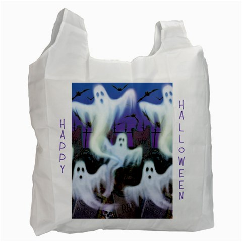 Happy Halloween Trick Or Treat Bag By Catvinnat   Recycle Bag (one Side)   G46yv48kkmrk   Www Artscow Com Front