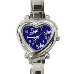 a - dallas cowboys.Heart Italian Charm Watch by fidzirestroasia
