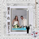 Mr and Mrs Canvas 20x20 - Canvas 20  x 20