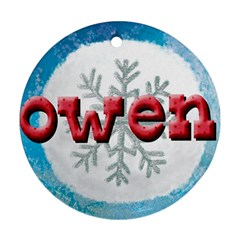 Owen Ornament By Lily Hamilton   Round Ornament (two Sides)   Qt1upf4jk0md   Www Artscow Com Back