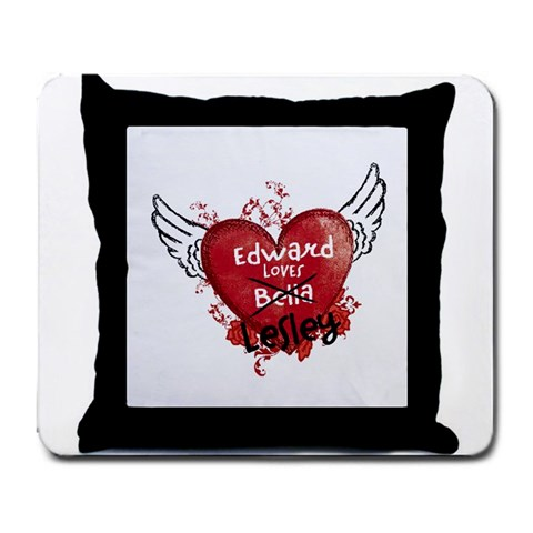 Edward Loves Me Mouse Pad By Lesley Watson   Large Mousepad   Dsh080zhylvo   Www Artscow Com Front