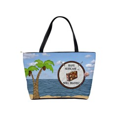 Tropical Vacation Shoulder  Bag By Lil    Classic Shoulder Handbag   23grfwo7f57t   Www Artscow Com Back