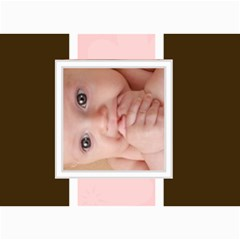 Pink For Baby  By Joely   5  X 7  Photo Cards   Tx39jhhdw4xi   Www Artscow Com 7 x5 Photo Card - 7