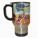 Winter theme, cup template - Travel Mug (White)