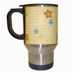 Floral Travel Mug- template - Travel Mug (White)
