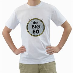 50th Birthday Mens T Shirt By Lil    Men s T Shirt (white) (two Sided)   J7gqem98wqve   Www Artscow Com Front