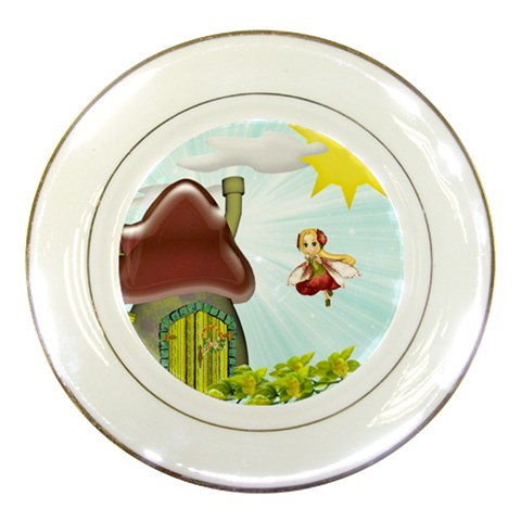 Fairy Plate By Susie Fisher   Porcelain Plate   7ck887wi81nn   Www Artscow Com Front