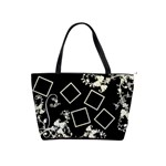 Black & Creme swirly shoulder Bag - Classic Shoulder Handbag