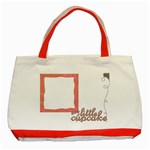Cupcake Red Tote  - Classic Tote Bag (Red)