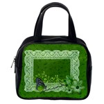 Handbag Template- Green Butterfly - Classic Handbag (One Side)