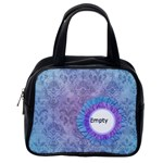 Blue Purple Flower Handbag - Classic Handbag (One Side)