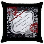 Inspirational Pillow - Throw Pillow Case (Black)