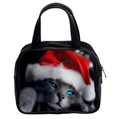 Christmas Purse   Cats By Tracy    Classic Handbag (two Sides)   Zahhhktwpjlh   Www Artscow Com Front