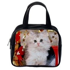 Christmas Purse   Cats By Tracy    Classic Handbag (two Sides)   Zahhhktwpjlh   Www Artscow Com Back