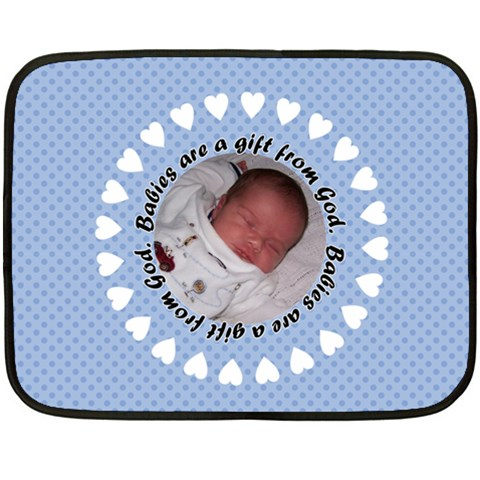 Baby Boy Blanket   Mini By Klh   Fleece Blanket (mini)   Mknxvm43m01m   Www Artscow Com 35 x27 Blanket