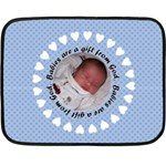 Baby Boy Blanket - Mini - Mini Fleece Blanket