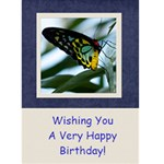 Damask Dream Birthday Card - 1 - Greeting Card 5  x 7