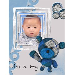 "It s A Boy    4 5"" X 6"" Greeting Cards By Carmensita   Greeting Card 4 5  X 6    L28oa34z7cuo   Www Artscow Com Front Cover"