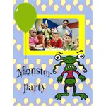 "MONSTER PARTY INVITAION boy -  4.5"" x 6"" Greeting Cards - Greeting Card 4.5  x 6"