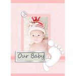 baby card - Greeting Card 5  x 7