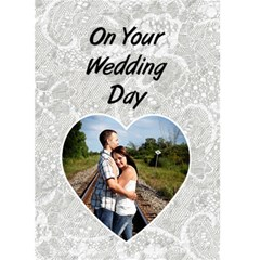 Wedding Card #1 By Lil    Greeting Card 5  X 7    Kmmcr0ipfkiw   Www Artscow Com Front Cover