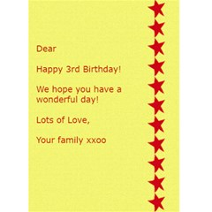 Fun & Bright Birthday Card   1 By Mim   Greeting Card 5  X 7    Xphx35s0j0h8   Www Artscow Com Back Inside