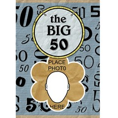 50th Birthday Card By Lil    Greeting Card 5  X 7    Nemrbbbvfbdy   Www Artscow Com Front Cover