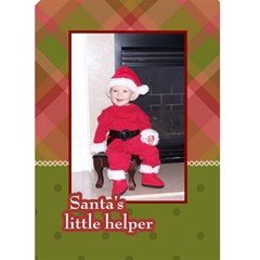 Santa s Little Helper 5x7 Christmas Card By Klh   Greeting Card 5  X 7    Aknahpl94ijn   Www Artscow Com Front Cover