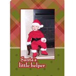 Santa s Little Helper 5x7 Christmas Card - Greeting Card 5  x 7