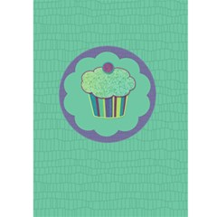Cupcake Birthday Invitation 2 5x7 Greeting Card By Klh   Greeting Card 5  X 7    Laue73upqmta   Www Artscow Com Back Cover