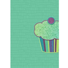 Cupcake Birthday Invitation 2 5x7 Greeting Card By Klh   Greeting Card 5  X 7    Laue73upqmta   Www Artscow Com Front Inside