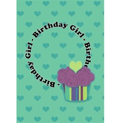 Birthday Girl 5x7 Greeting Card By Klh   Greeting Card 5  X 7    7i5p1r8v9pgp   Www Artscow Com Front Cover