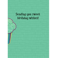Birthday Girl 5x7 Greeting Card By Klh   Greeting Card 5  X 7    7i5p1r8v9pgp   Www Artscow Com Back Inside