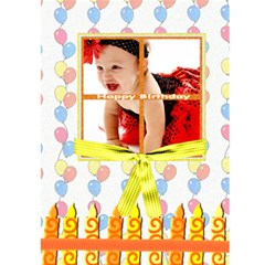 Birthday Card Template By Danielle Christiansen   Greeting Card 5  X 7    Ergpzntjaio1   Www Artscow Com Back Cover