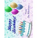 Happy Birthday Personalized Cards - Greeting Card 4.5  x 6