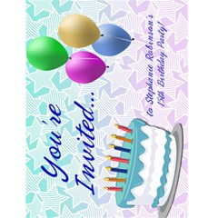 Custom Birthday Party Invitations By Angela   Greeting Card 4 5  X 6    K0quyn6b9t2u   Www Artscow Com Front Cover