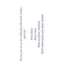 Custom Birthday Party Invitations By Angela   Greeting Card 4 5  X 6    K0quyn6b9t2u   Www Artscow Com Back Inside