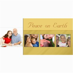 Peace On Earth Gold Photo Holiday Christmas Cards By Angela   4  X 8  Photo Cards   Iee75fdn6xsy   Www Artscow Com 8 x4 Photo Card - 1