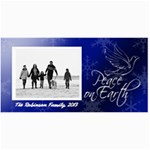 Peace on Earth Blue Dove Photo Holiday Cards - 4  x 8  Photo Cards