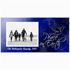 Peace On Earth Blue Dove Photo Holiday Cards By Angela   4  X 8  Photo Cards   Atbbklfj4ezv   Www Artscow Com 8 x4 Photo Card - 2
